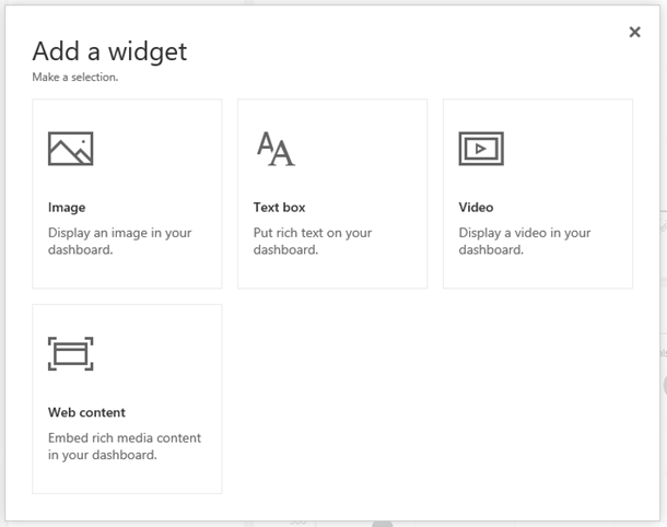 Add widget dialog