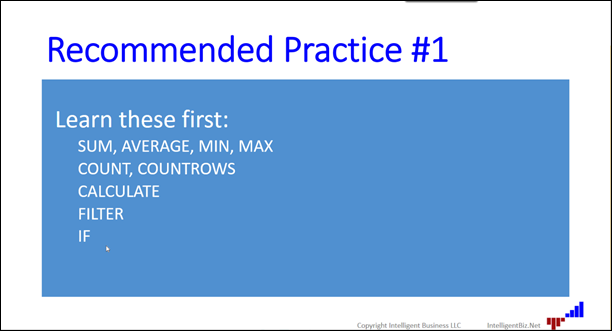 4 recommended practices for new DAX users - Business Intelligence Info